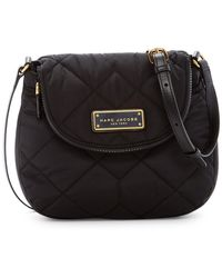 Marc By Marc Jacobs Quilted Nylon Mini Messenger Bag - Black