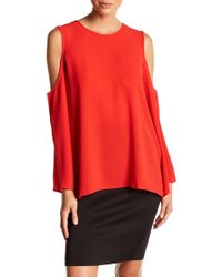 Vince Camuto - Cold-shoulder Bell Sleeve Blouse - Lyst