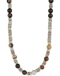 Link Up | Tan Shell Silver Discs Necklace | Lyst