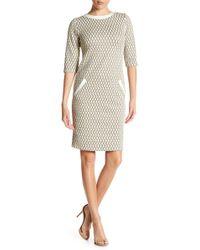 Aerin - Diamond Pattern Pocket Dress - Lyst