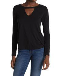 LNA Arianda Cutout Knit Top - Black
