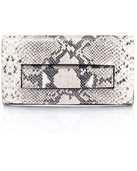 Giorgio Costa Snake Embossed Clutch In White At Nordstrom Rack