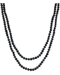 Splendid - Endless 7-8mm Black Freshwater Pearl Necklace - Lyst