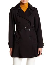 Kate Spade - Belted Double Breasted Raincoat - Lyst