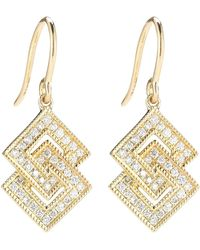 Dana Rebecca - 14k Yellow Gold Diamond Accented Isabelle Brook Drop Earrings - 0.26 Ctw - Lyst