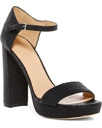 Pour La Victoire - Yvette Snake-embossed Platform Sandals - Lyst