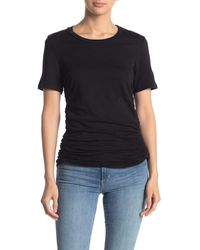 Stateside Supima Ruched Side Crew Neck T-shirt - Black