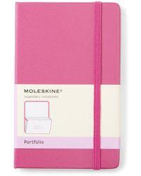 Moleskine Magenta Classic Portfolio - Pink