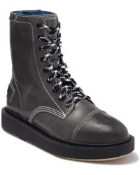 DIESEL - Cage-d Leather Combat Boot - Lyst