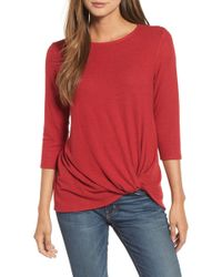 Gibson - Cozy Twist Front Pullover (regular & Petite) - Lyst