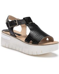 Khrio - Perforated Leather Platform Sandal - Lyst
