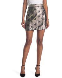 ModCloth Skull Brocade Mini Skirt - Black