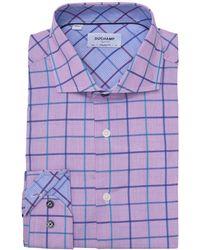 Duchamp Long Sleeve Woven Dress Shirt - Purple