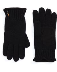 Polo Ralph Lauren Classic Luxe Merino Wool Gloves - Black