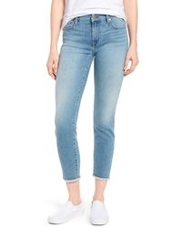 7 For All Mankind Kimmie Crop Straight Leg Jeans - Blue