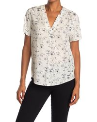 Billy Reid Camilla Face Printed Blouse - White