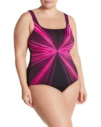 Reebok Pink Dimension One-piece Swimsuit