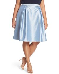 Adrianna Papell - Shantung Party Skirt (plus Size) - Lyst