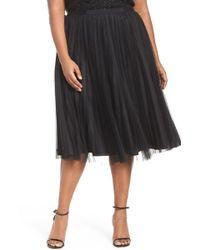 Adrianna Papell - Sunburst Pleat Tulle Skirt (plus Size) - Lyst