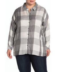Workshop Plaid Long Sleeve Shirt (plus Size) - Multicolour