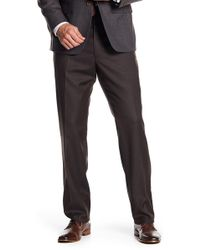 JB Britches - Flat Front Trousers - Lyst