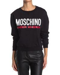 Moschino Logo Crewneck Sweatshirt - Black