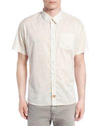 Ambsn - Print Short Sleeve Woven Shirt - Lyst