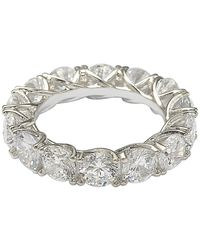 Suzy Levian Sterling Silver Cz Eternity Band - White