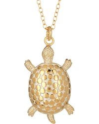 Anna Beck - 18k Gold Plated Sterling Silver Large Turtle Necklace - Lyst