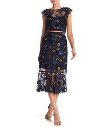 ABS By Allen Schwartz - Sage Embroidered Lace Skirt - Lyst