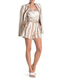 Walter Baker Leah Striped Paperbag Shorts - Multicolor