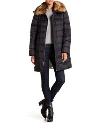 Kate Spade - Faux Fur Trim Collar Down Jacket - Lyst