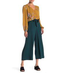 June & Hudson - Wide Leg Crepe Pants - Lyst