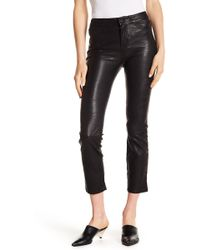 PAIGE - Jacqueline Slim Leather Pants - Lyst