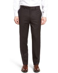 Bensol - Flannel Wool Trousers - Lyst