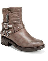 Carlos By Carlos Santana Shiloh Moto Boots - Brown