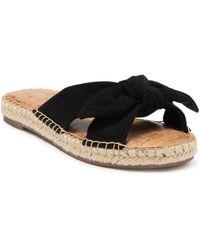 Nine West Blanche Knotted Slide Sandals - Black