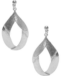 Karine Sultan - Cecilia Etched Statement Earrings - Lyst