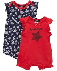 Bebe Star Scribble Romper Set (baby Girls) - Red