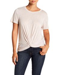 Michael Stars - Short Sleeve Knotted Front Tee - Lyst