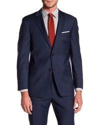 Tommy Hilfiger Adams Modern Fit Th Flex Performance Wool Blend Sharkskin Suit Separates Jacket - Blue