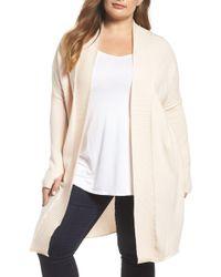 Caslon - Off-duty Long Open Front Cardigan (plus Size) - Lyst
