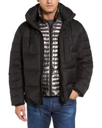 Andrew Marc - Quilted Down Jacket With Zip Out Bib - Lyst
