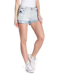 Tractr - Distressed Roll Cuff Denim Shorts - Lyst
