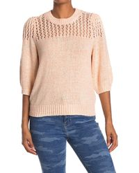 Joie Una Open Knit Yoke Sweater - Multicolour