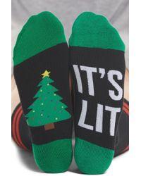 Sockart - It's Lit - Christmas Tree Crew Socks - Lyst