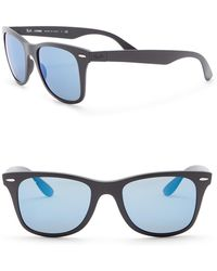 c2f59885a2b Lyst - Ray-Ban Square 55mm Liteforce Sunglasses in Blue for Men