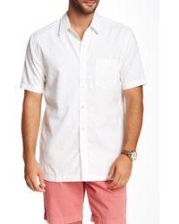 Tori Richard - Palmz Fronz Embossed Short Sleeve Contemporary Fit Shirt - Lyst