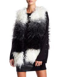 Blush Noir - Shag Faux Fur Vest - Lyst