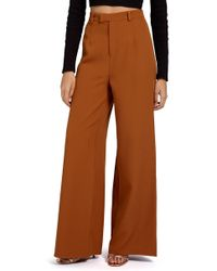 Missguided - Crepe Wide Leg Trousers - Lyst